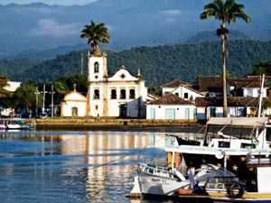 Igreja de Santa Rita, cartão postal de Paraty