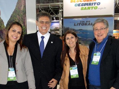 ABAV 2013: Teka Ribeiro, do Paraty CVB; Ronald Azaro, Secretário de Estado de Turismo; Claudia Gomes, do Paraty CVB e Cezar Werneck, Diretor de Planejamento e Projetos da TurisRio