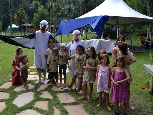 Atividades educativas no evento Aves de Paraty 2014