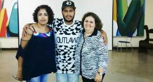 Diretora Maria Helena, escritor Jessé Andarilho e diretora Ana Angélica