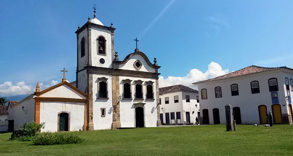 Paraty Igreja E Largo De Santa Rita Cartão Postal De Paraty