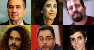 Luís Roberto Barroso, Fernanda Torres, Guilherme Boulos, Geovani Martins, Marcelo Bretas, Lilian Pacce